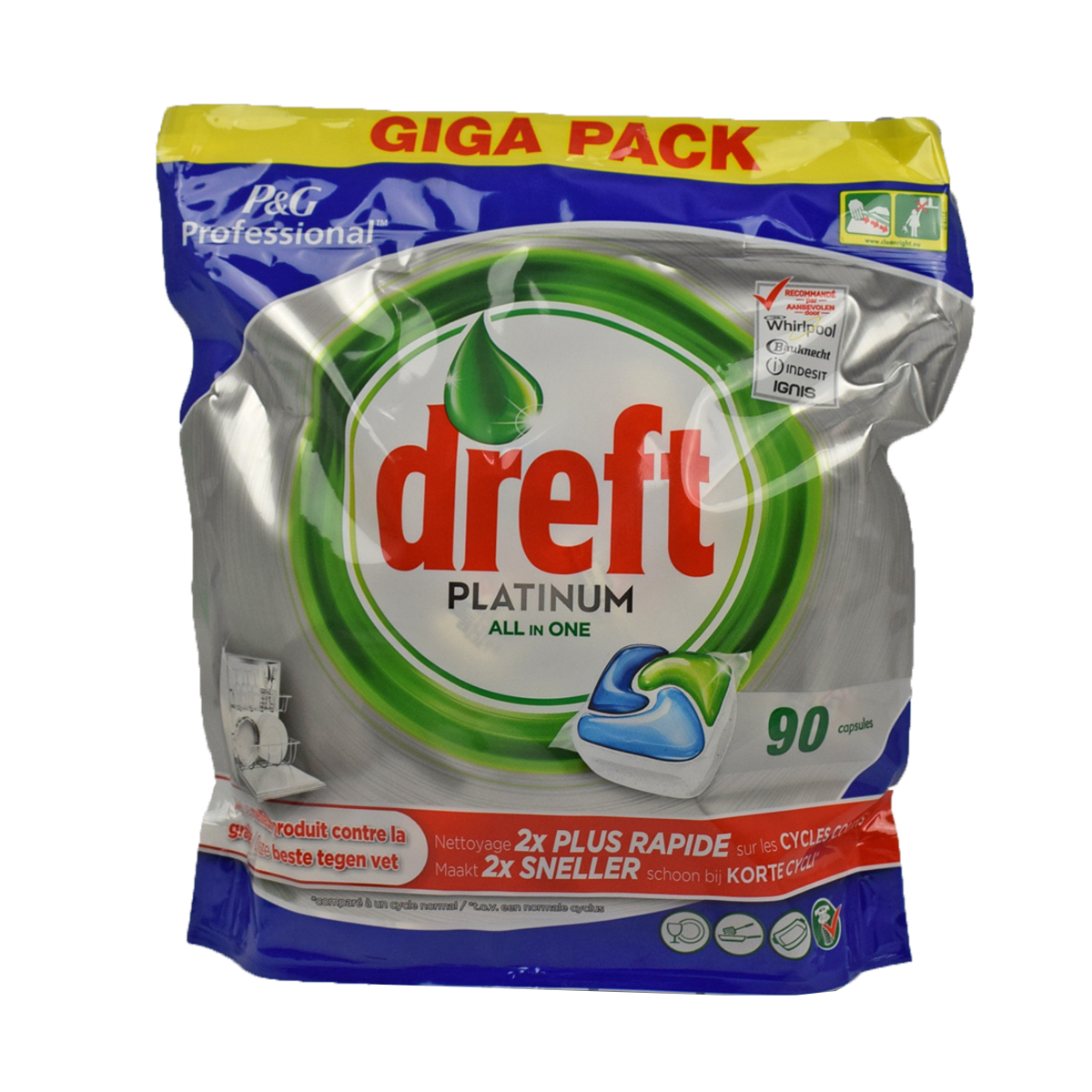 Dreft Platinum All In One 90 tabs