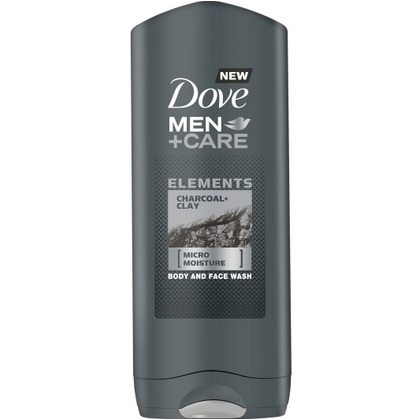 """Dove Men +Care Body & Face Wash """"Charcoal Clay"""" 400ml"""