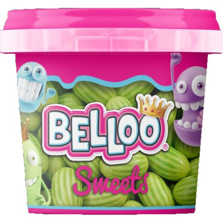 "Belloo sweets ""Bubbelgum Meloenen"" 200g Halal Gelatine"
