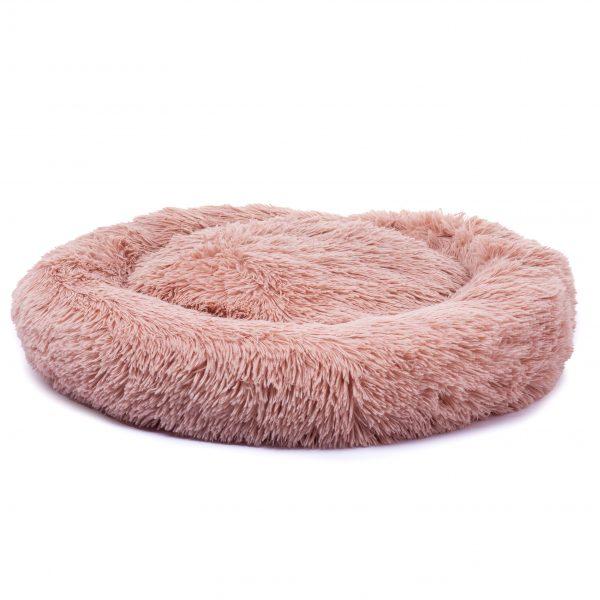 Hondenkussen fluffy roze superzacht