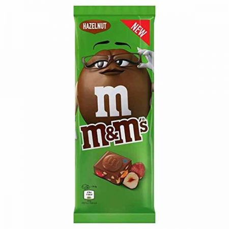 M&M's Hazelnoot melkchocolade bar 165gr