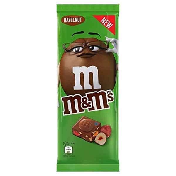 M&M's Hazelnoot melkchocolade bar 165gr