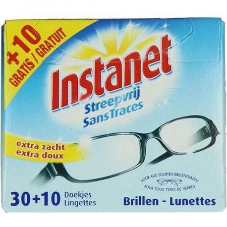 """Instanet brillen doekjes """"Streepvrij"""" 40st"""