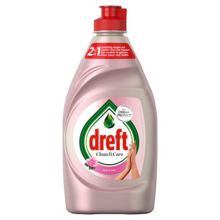 Dreft Afwasmiddel Clean & Care – Rose & Satin 383ml
