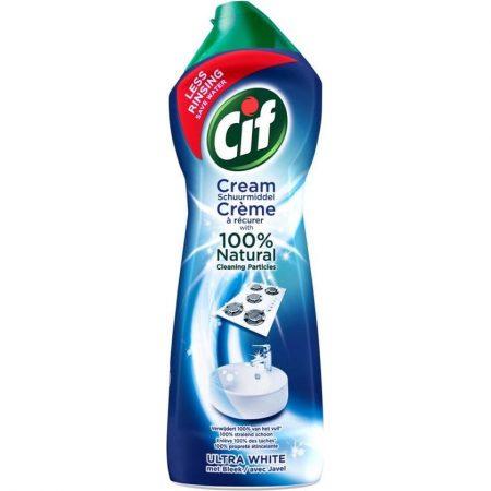 Cif Schuurmiddel Cream Ultra White met Bleek 750ml