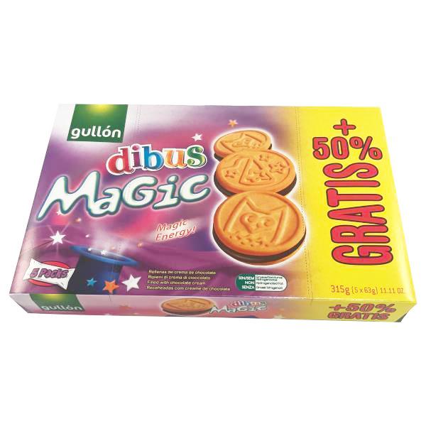 Dibus Magic koekjes met chocoladevulling - 50% gratis