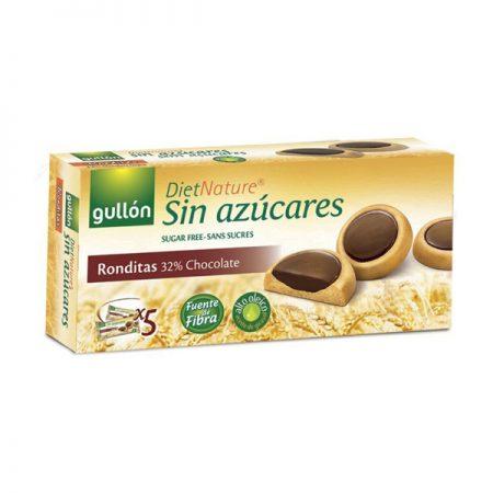 Diet Nature suikervrije ronde chocoladekoekjes 186g