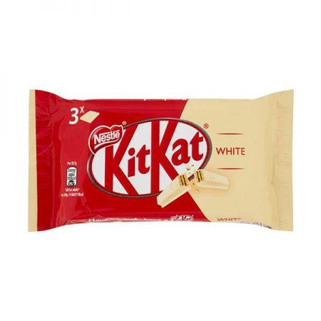 Kit Kat met witte chocolade – Zit verpakt per 3 repen van 41,5 gr.
