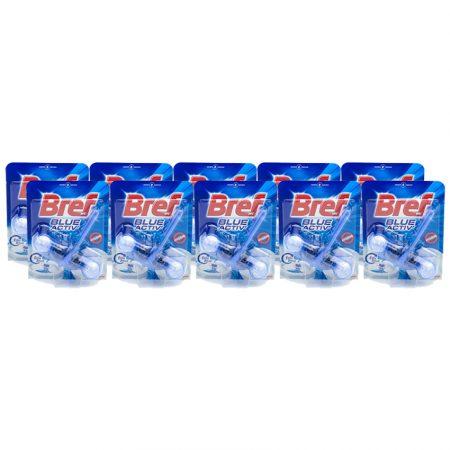 Bref Wc Power Active 10 x 50g blauw water - Voordeelverpakking