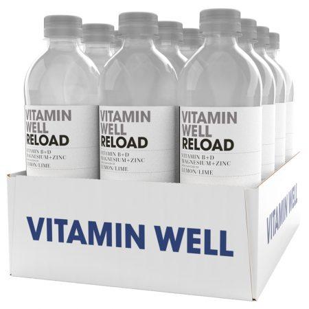Vitamin Well Reload 12 x 500ml Lemon & Lime - Voordeelverpakking