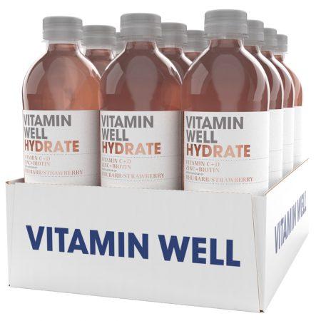 Vitamin Well Hydrate 12 x 500ml Rhubarb & Strawberry - Voordeelverpakking