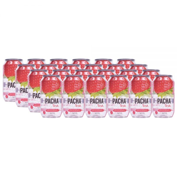 Pacha Drink Strawberry 24 x 33cl - Voordeelverpakking