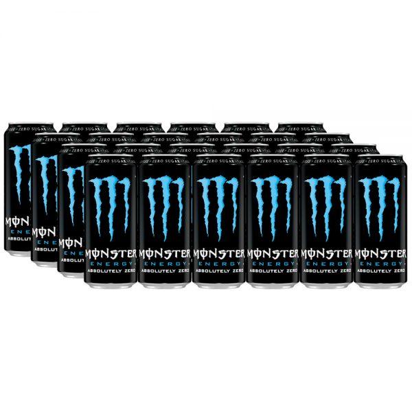 Monster Energy Drink Absolutely Zero 24 x 500ml - Voordeelverpakking