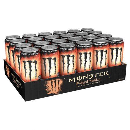 Monster Energy Drink Rehab Peach 24 x 500ml - Voordeelverpakking