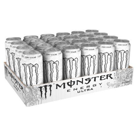 Monster Energy Drink Ultra White 24 x 500ml - Voordeelverpakking