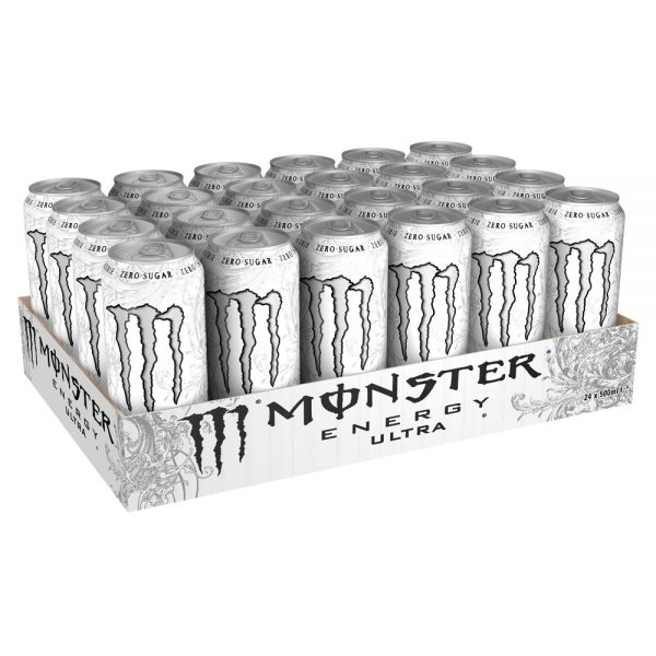 Monster Energy Drink Ultra White 24 x 500ml - Voordeelverpakking