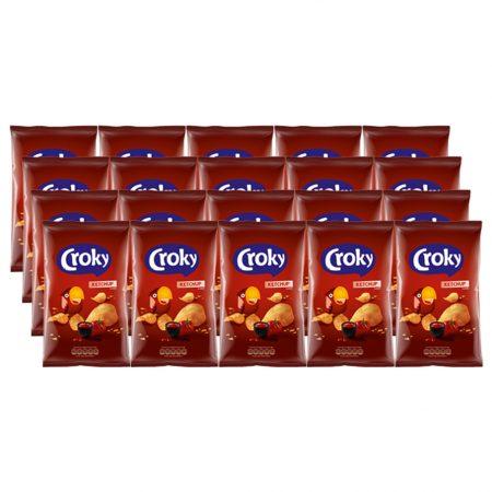 Croky Chips Ketchup 20 x 40g - Voordeelverpakking