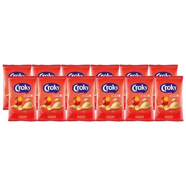 Croky Chips Naturel 12 x 100g - Voordeelverpakking