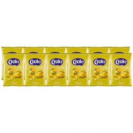 Croky Chips Pickles 12 x 100g - Voordeelverpakking