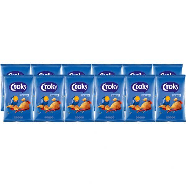 Croky Chips Paprika 12 x 100g - Voordeelverpakking
