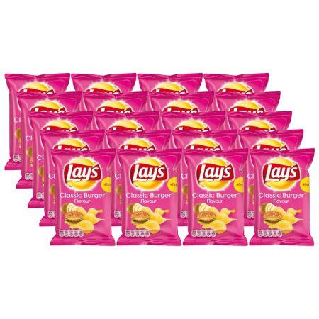 Lays Chips Classic Burger 20 x 40g - Voordeelverpakking