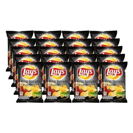 Lays Chips Heinz Tomato Ketchup 20 x 40g - Voordeelverpakking