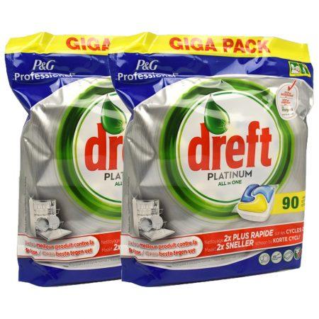 Dreft Platinum Vaatwastabletten All-In-One 2 x 90 Stuks - Voordeelverpakking