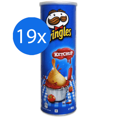 Pringles Ketchup 19 x 165gr - Voordeelverpakking