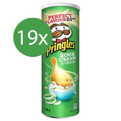 Pringles Texas Sour Cream & Onion 19 x 165gr - Voordeelverpakking