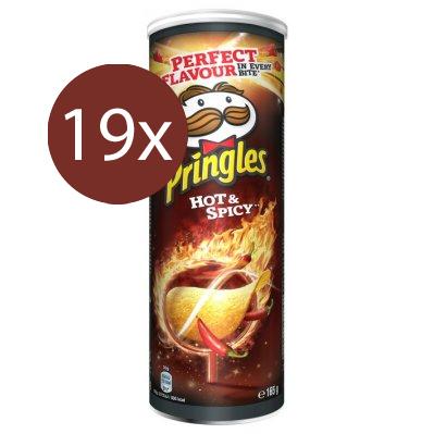 Pringles Hot & Spicy 19 x 165gr - Voordeelverpakking