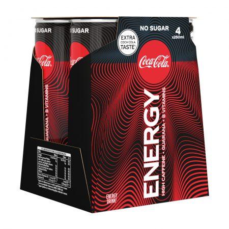 Coca-Cola Energy Zero Sugar 4 x 25 cl