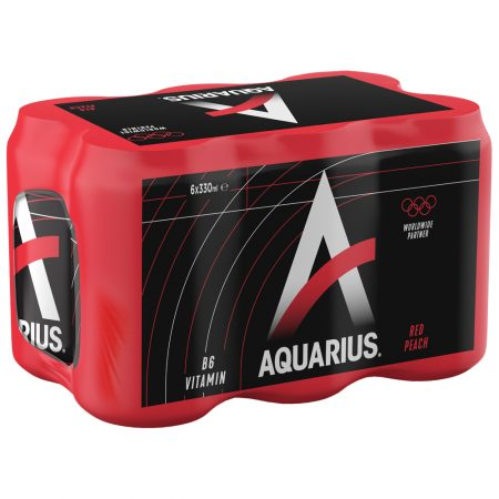 Aquarius Red Peach 6 x 33cl