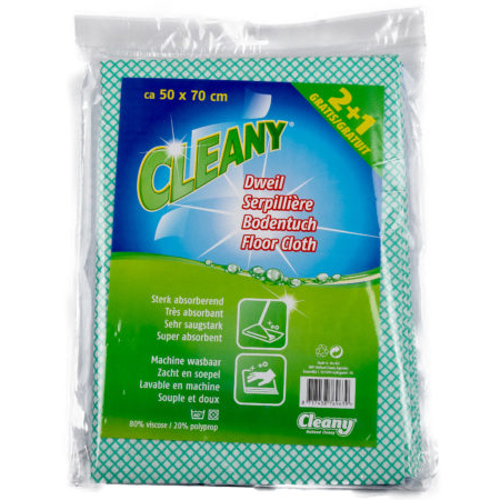Cleany Dweil 50 x 70cm 2 + 1 Gratis