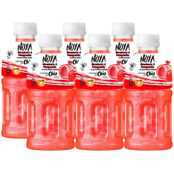 Noya Drink Granaatappel & Aardbei 6 x 320ml