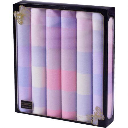 Dames zakdoek in doosje - 100% Katoen - 6st 30x30cm
