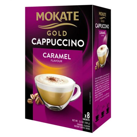 Mokate Gold - Cappuccino Caramel -Instant Koffie 8x12,5gr