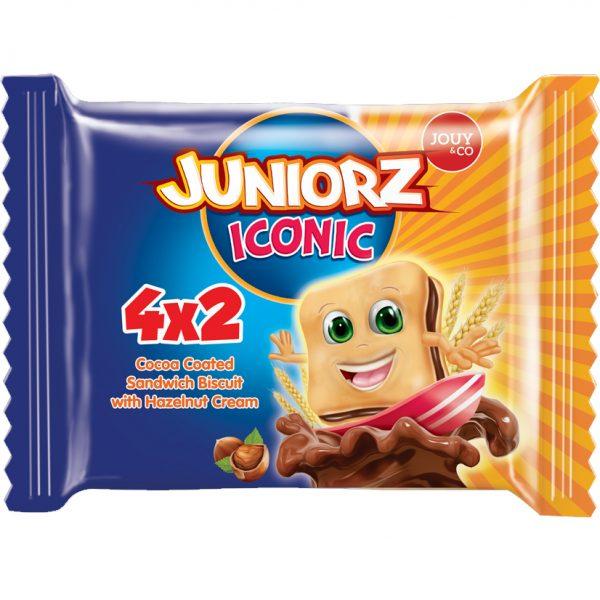 Juniorz Iconic Biscuitkoekjes Met Hazelnootvulling - Apart Verpakt 4x2 stuks