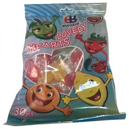 Lovely Hearts Lolly's Met Fruitsmaak - Apart Verpakt 200g