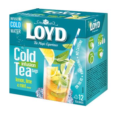 Loyd Cold Tea - Lemon, Lime & Mint - 12x Theezakje