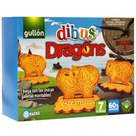 Gullon Dibus Dragons Koekjes - Apart Verpakt 8x37,5g