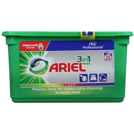 Ariel 3 In 1 Pods Colour - 35wasb