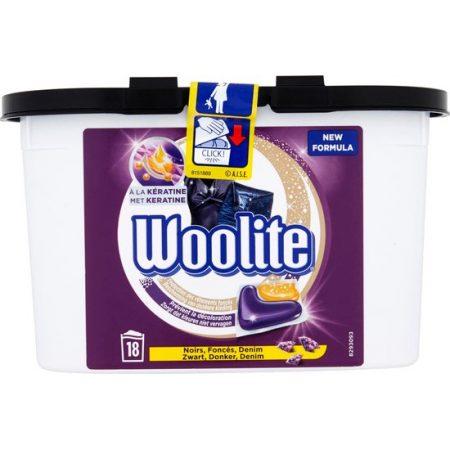 Woolite Pods Zwart, Donker, Demin - 18 wasb.