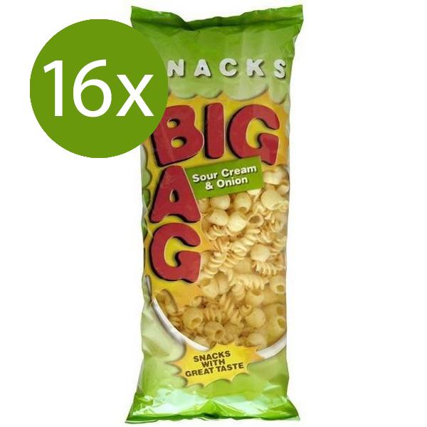 Big Bag Snacks Sour Cream & Onion 16 x 330g - Voordeelverpakking