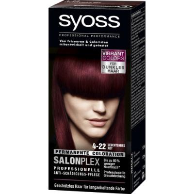 Syoss Haarkleuring Salonplex 4-22 Permanent - Glanzend Rood