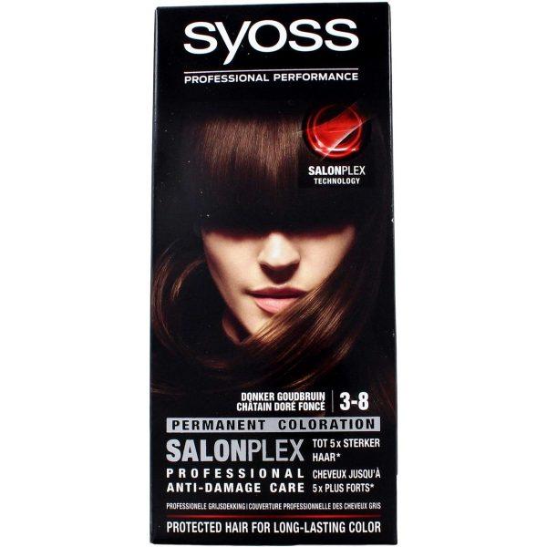 Syoss Haarkleuring Salonplex 3-8 Permanent - Sweet Brunette