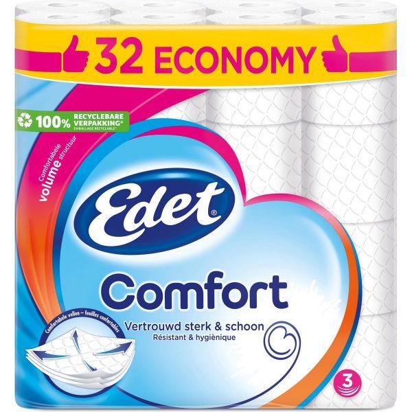 Edet Comfort Toiletpapier 3-laags 32 Rollen