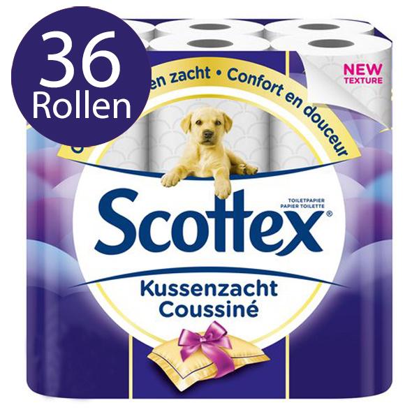 Scottex Toiletpapier Kussenzacht – 3 Laags – 36 Rollen - Voordeelverpakking
