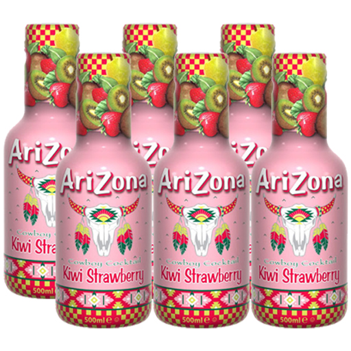 Arizona Kiwi Strawberry 6 x 500ml