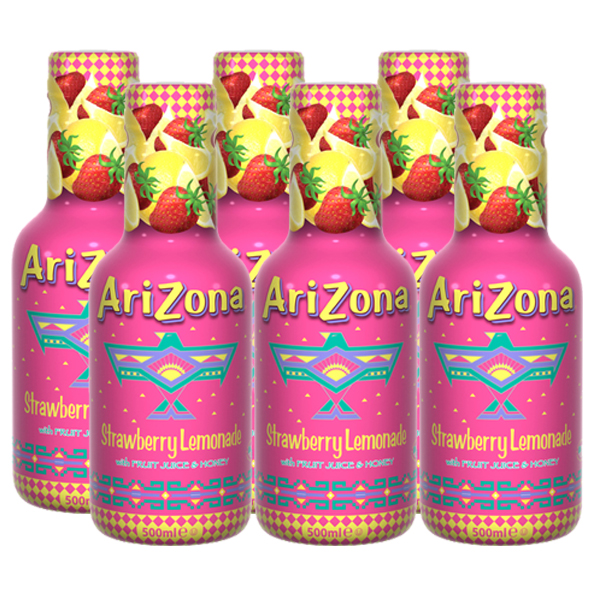 Arizona Cowboy Cocktail Strawberry Lemonade 6 x 500ml