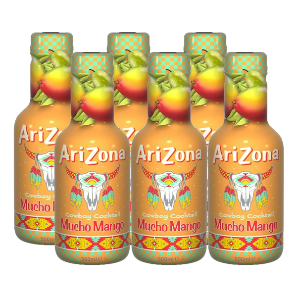 Arizona Cowboy Cocktail Mucho Mango 6 x 500ml